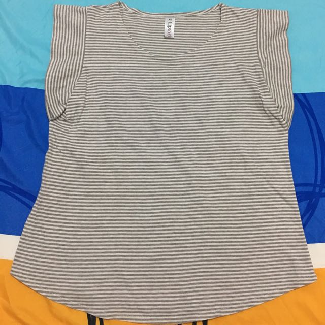 *Clearance Sale* Brown stripes top