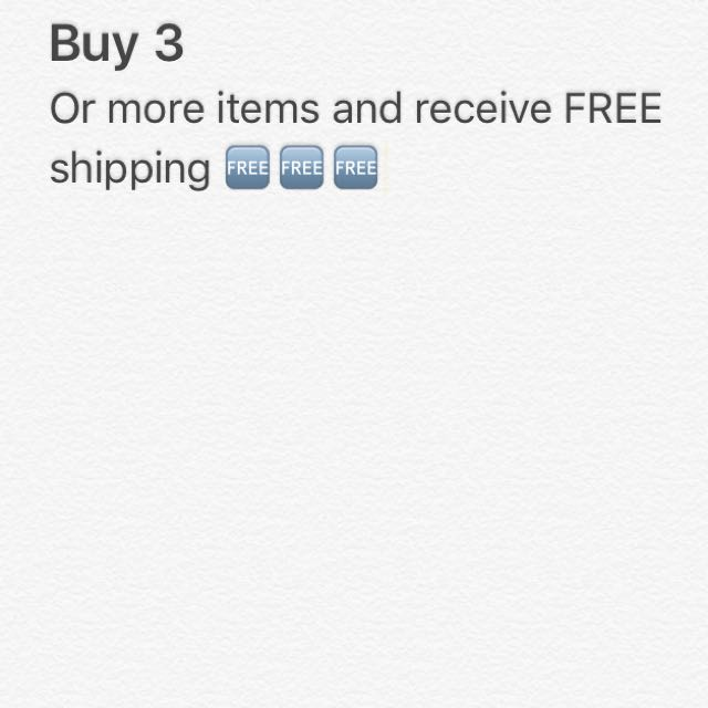 Buy 3 Or More And Get Free Shipping