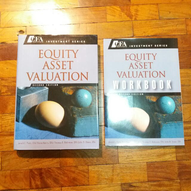 Free Ship: CFA Institute Investment Series - Equity Asset Valuation Textbook + Workbook