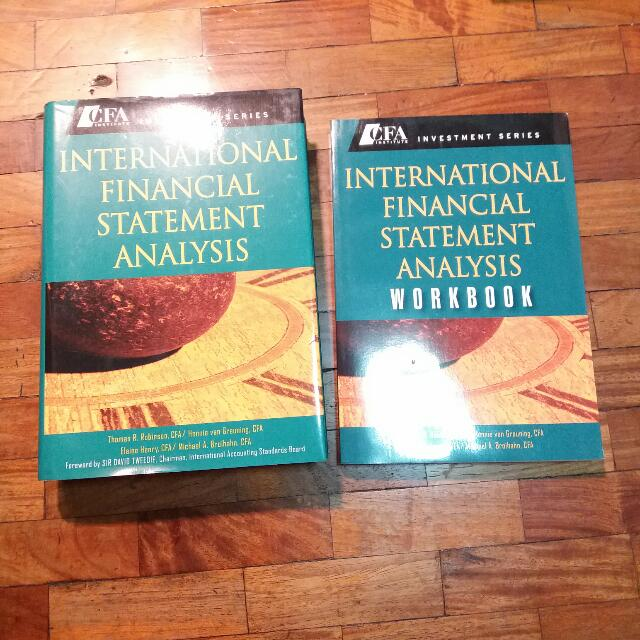 Free Ship: CFA Institute Investment Series - International Financial Statment Analaysis Textbook + Workbook