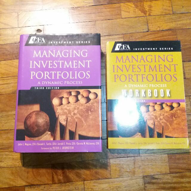 Free Ship: CFA Institute Investment Series - Managing Investment Portfolios Textbook + Workbook