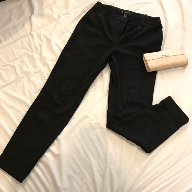 GOOD CONDITION MANGO BLACK TROUSERS