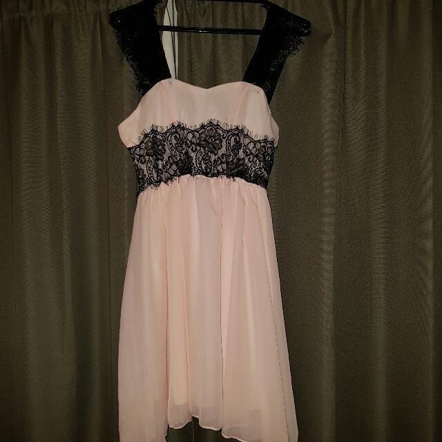 Gorgeous Pink Chiffon Dress Size 10