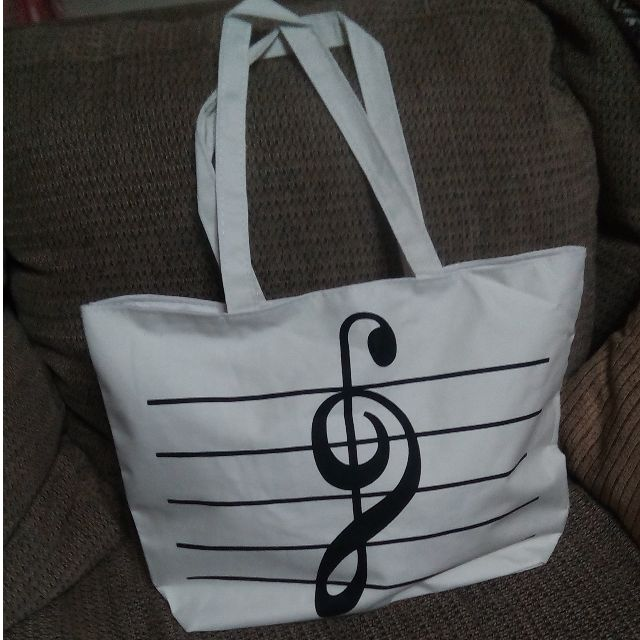 Inverted G-Clef Tote Bag