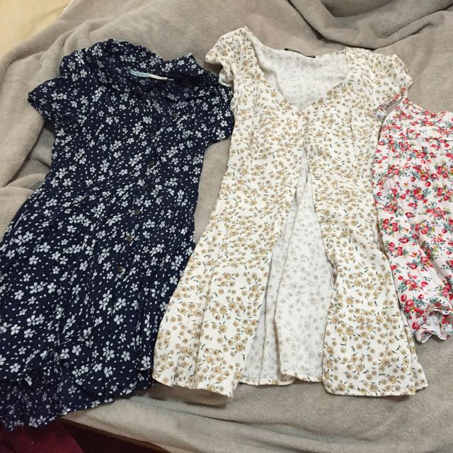 Kimchi Blue (urban Outfitters) Cute Summer Shirt Dress