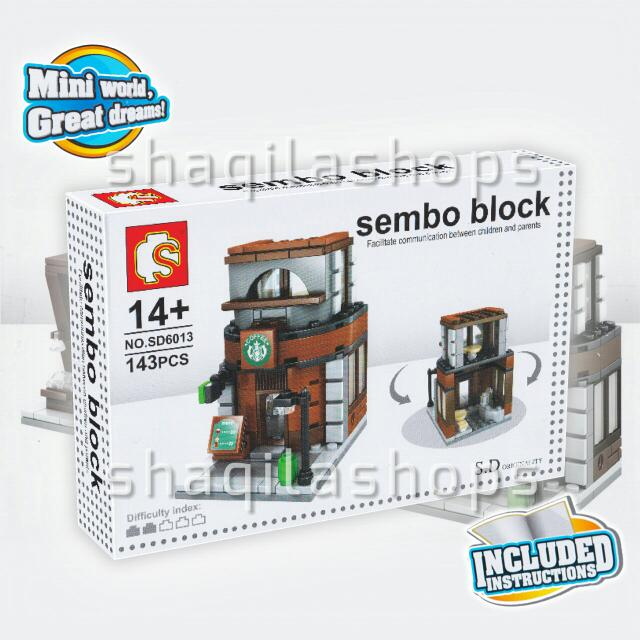 Lego City Starbucks Outlet Sembo SD6013
