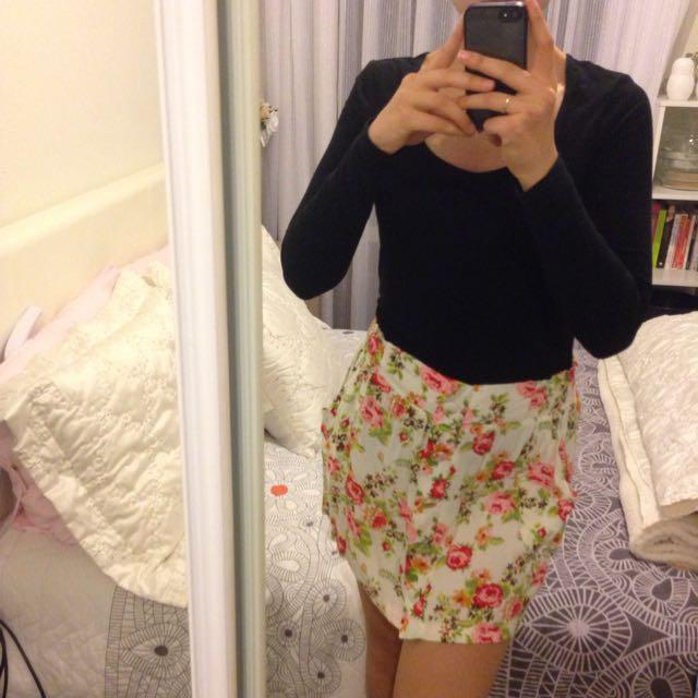Light Floral Skirt