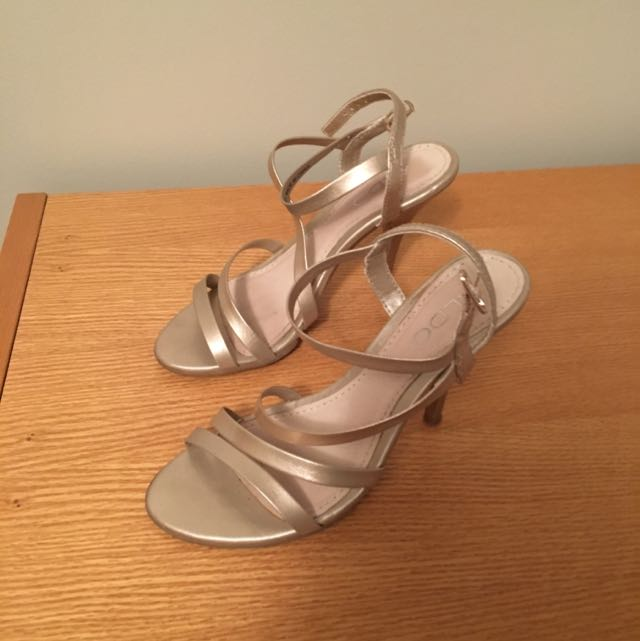 ALDO Light Gold Strappy Sandals