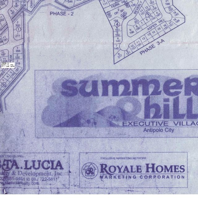 Lot in Summerhills Executive Village, Antipolo City