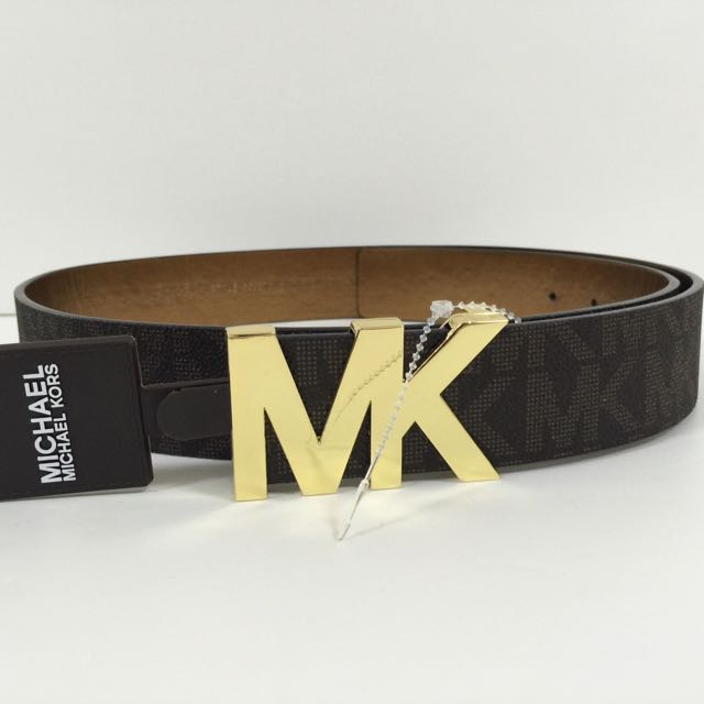 65241023273b ... where to buy michael kors mens brown leather belt size l 100 authbrand  new luxury accessories