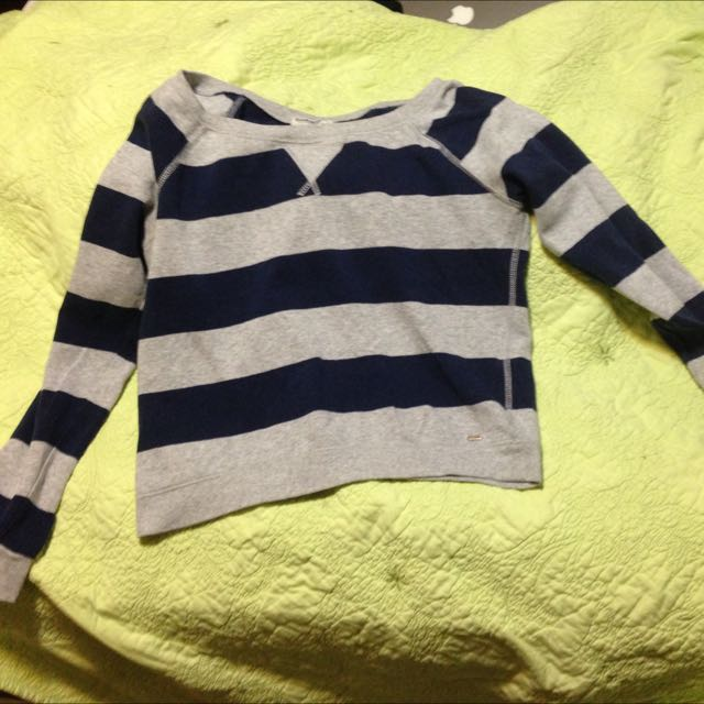 Navy And Grey Sweater Shirt