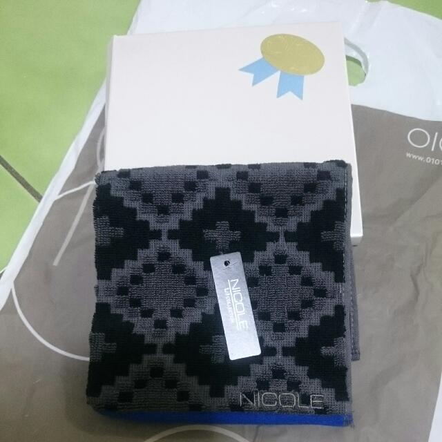 日本買的NICOLE小方型100%綿毛巾手帕