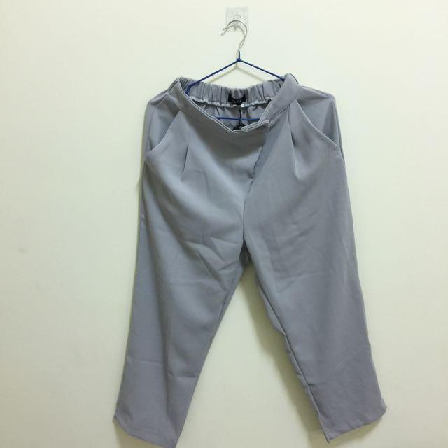 再降價!!!!Oopt 雪紡 灰色寬褲 全新