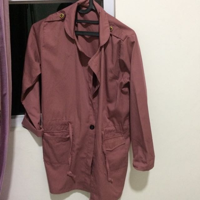 Parka Warna Dusty Pink