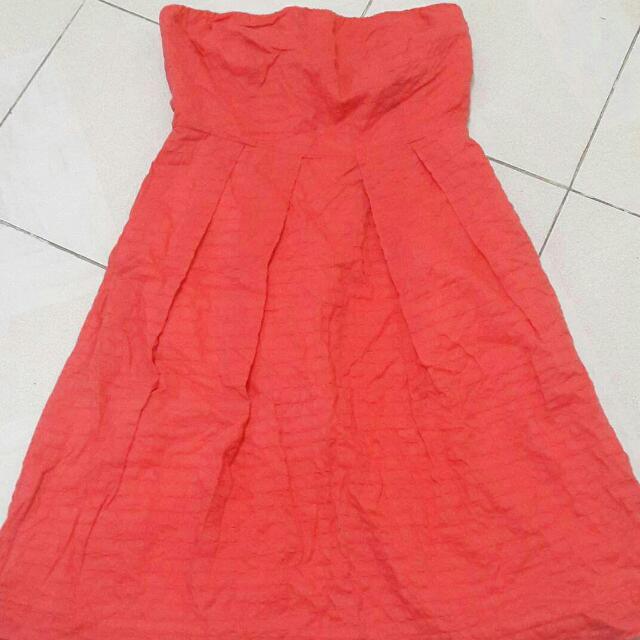 Peach Tube Dress