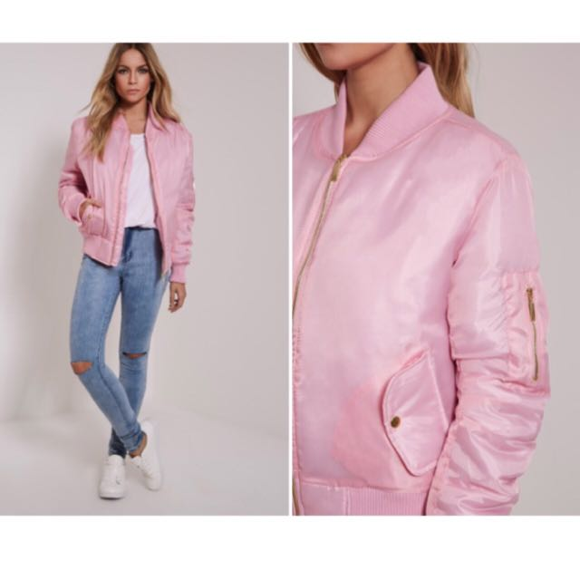 41223c40e Pink bomber jacket (Pretty Little Thing), Women's Fashion, Clothes ...