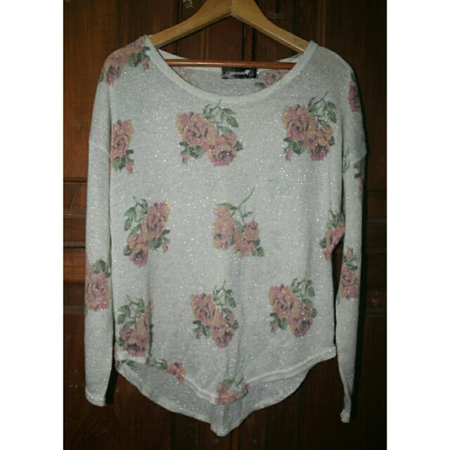 Sheer Flowery Top