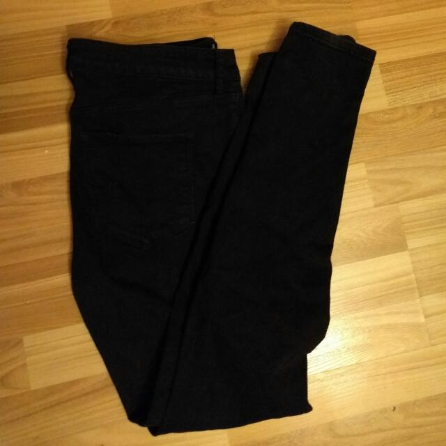 Size 10 W30 Abercrombie And Fitch Black Skinny Jeans