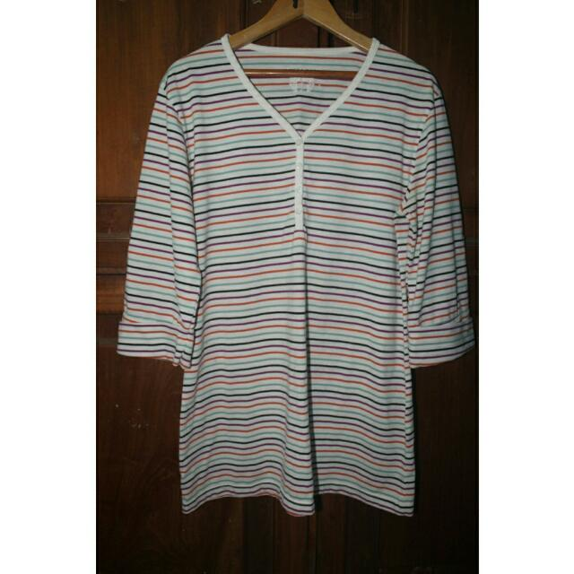 [REPRICE] Striped Rainbow T-shirt