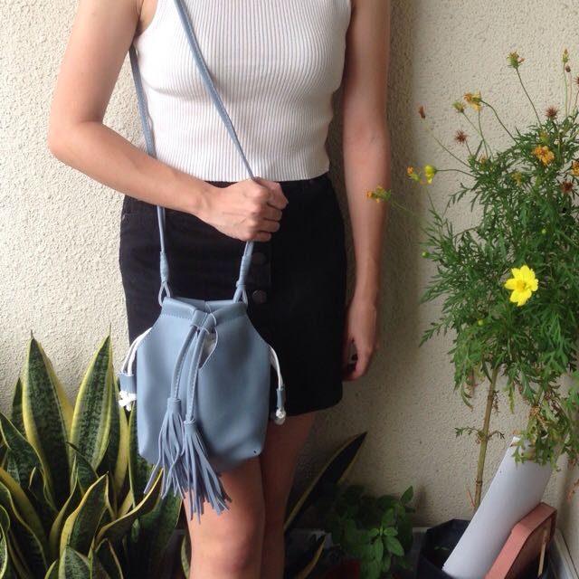 Tasseled Bucket Bag