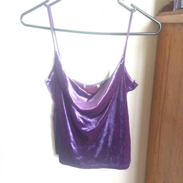 Vintage Velvet Purple Singlet