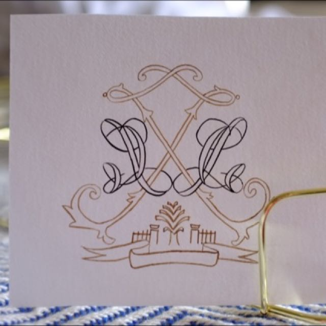 Simple Wedding Logo / Wedding Crest Design