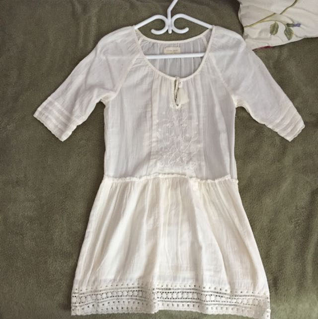 White Boho Aritzia Dress