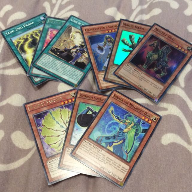 Yugioh Duel Monsters Spell And Monster Cards