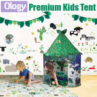Top Quality! Japanese Premium ABC Green Kids Play Tent for Camping Outing Family Baby