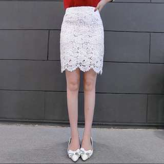 修身百搭性感蕾絲高腰氣質半身裙