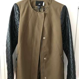 H&M 2-Toned Mid-length Jacket