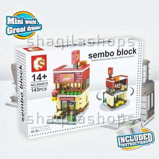 Lego City Pizza Hut Outlet Sembo Block SD6019