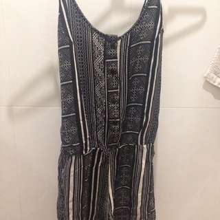 Size 8 Patterned Playsuit