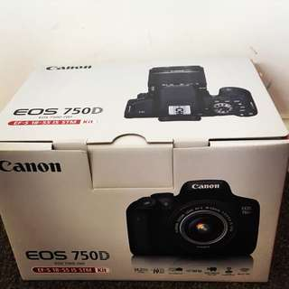 Canon EOS 750D Digital Camera With EF-S 18-55 IS STM Kit