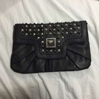 Black Clutch With Studs
