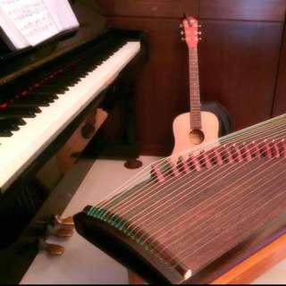 古箏、二胡、鋼琴樂理各項音樂教學