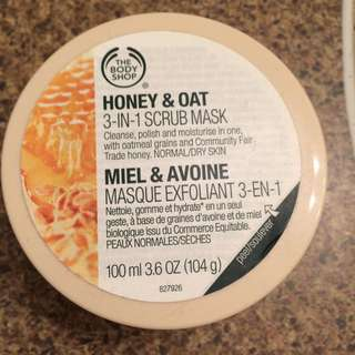 Body Shop Honey And Oat 3 In 1 Mask