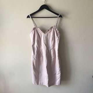 Review Pink Sleeveless Dress