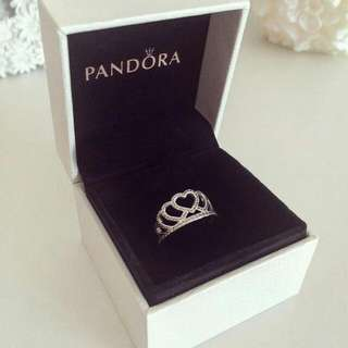 *NEW* 100% Authentic Pandora Crown Silver Ring