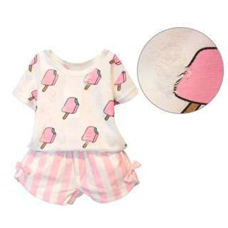 New Kids Pink Ice Cream Top and Shorts Set