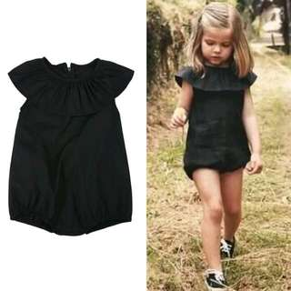New Girls Black Romper