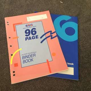 2 binder books, 96 pages