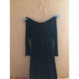 REPRICE Lacelys Sabrina Black Dress