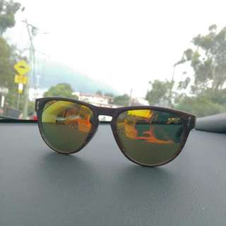 Polarised Wooden Pattern Frame Sunnies
