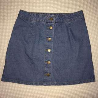 Jay Jays Button Up Denim Skirt