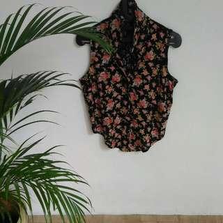 [Preloved] Body&Soul Flowery Top