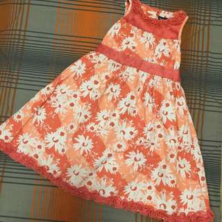 Floral Orange - Sunday Dress