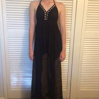 Boohoo Low-back Maxi Dress