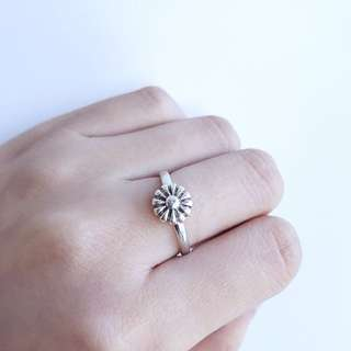 Handmade 925 Sterling Flower Ring
