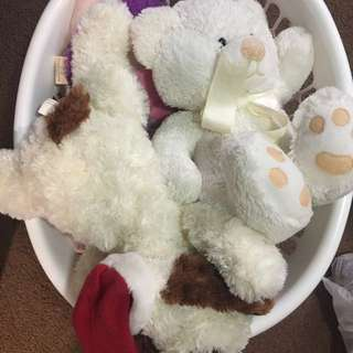 Basket Full Of Different Plush Toys